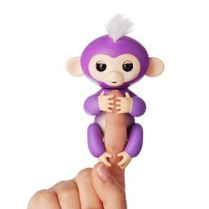 WOW WEE Fingerlings Bébé singe Mia Mauve Violet 13 cm