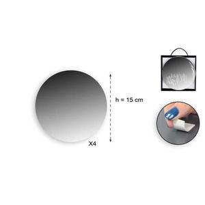 MIROIR Lot de 4 miroirs adhésifs ronds en verre - Ø 15 x