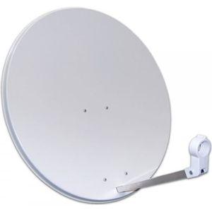 PARABOLE Parabole Satellite Acier 80 cm blanche sans LNB Co