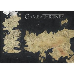 AFFICHE - POSTER Affiche de Game of Thrones map of Westeros & Essos