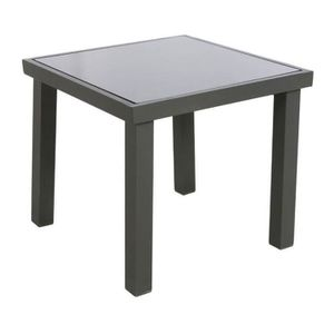 TABLE BASSE JARDIN  TABLE APPOINT EXTERIEUR PIAZZA HESPERIDE GRAPHITE