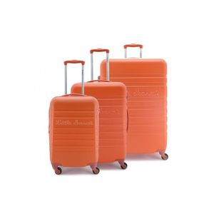SET DE VALISES Set de 3 valises Rigides 4 roulettes Orange Little