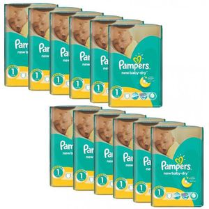 COUCHE Mega Pack 860 Couches Pampers New Baby Dry taille