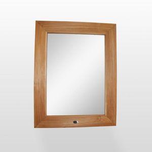 Miroir teck salle de bain Achat Vente Miroir teck salle de