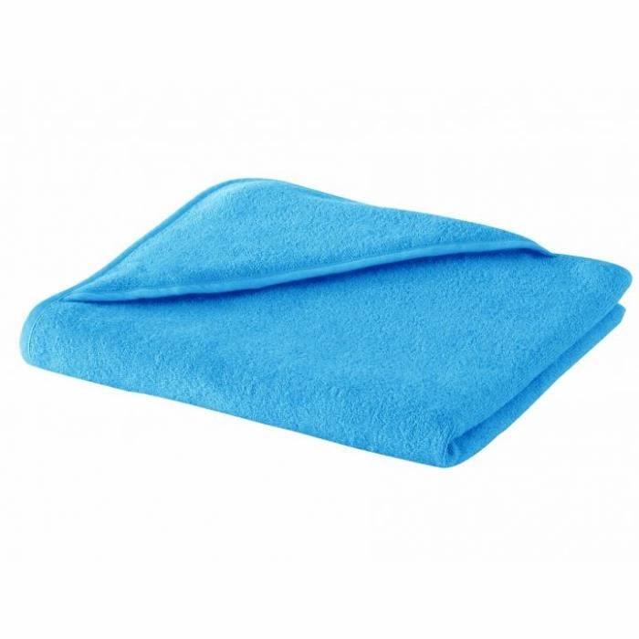DOUX NID Carré de bain capuche LEA 75x75 cm Turquoise