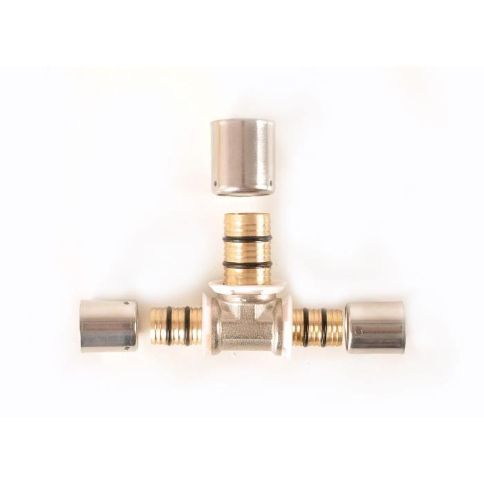 DIPRA Té réduit à sertir D.20-16-20mm