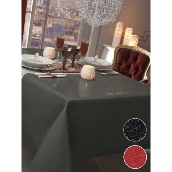 nappe en toile cir e rectangulaire 140x300 cm paillet noir achat vente nappe de table. Black Bedroom Furniture Sets. Home Design Ideas