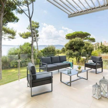 Salon de jardin Sesimbra graphite Hespéride - Achat / Vente ...