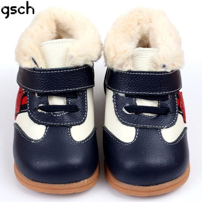 Bébé garçon fille bottes rose hiver Chaud enfants chaussures