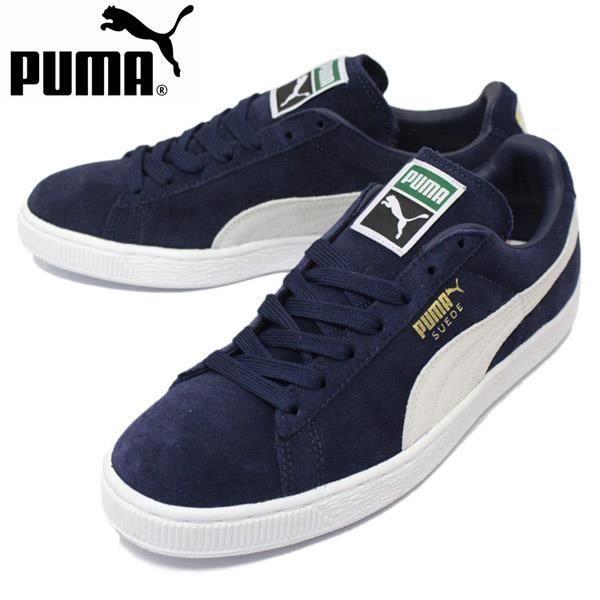 Baskets PUMA Suede Classic +, Modèle 356568 51 Bleu.