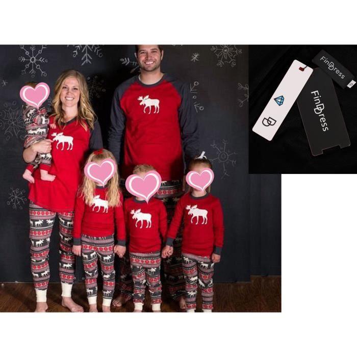 2775d3836618c FindDress Pyjamas de Noël définit la famille Cerf t shirt manches ...