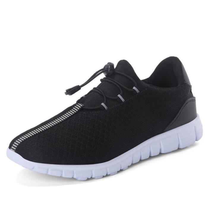 baskets hommes perméable à l'air Chaussures en coton Confortable Chaussures de course homme Antidérapant Grand dssx400noir44