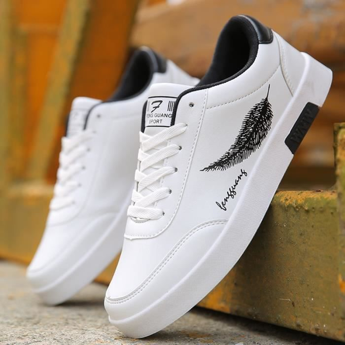 Zapatos Casual Plume Imprimer Masculino Hombre Mâle Tenis Respirant Hommes Sapatos Chaussures 4ARjL5