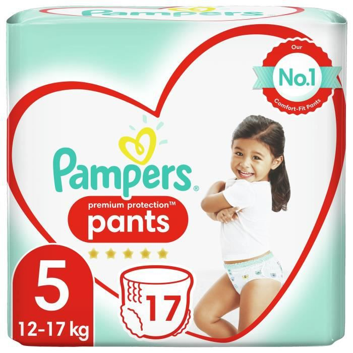 Pampers Premium Active Fit Pants Taille 5 11-18 kg - 17 Couches-Culottes
