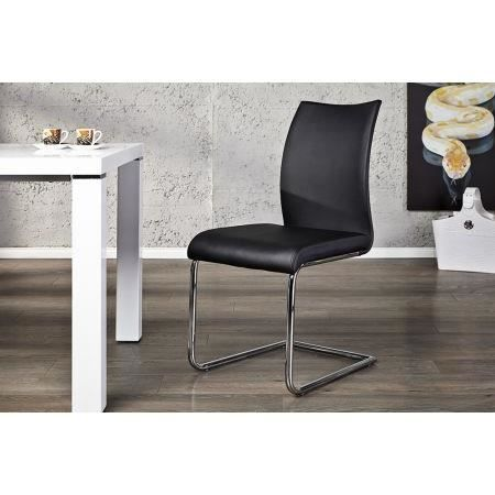 Chaise Design Noir Catalina Achat Vente Chaise Cdiscount