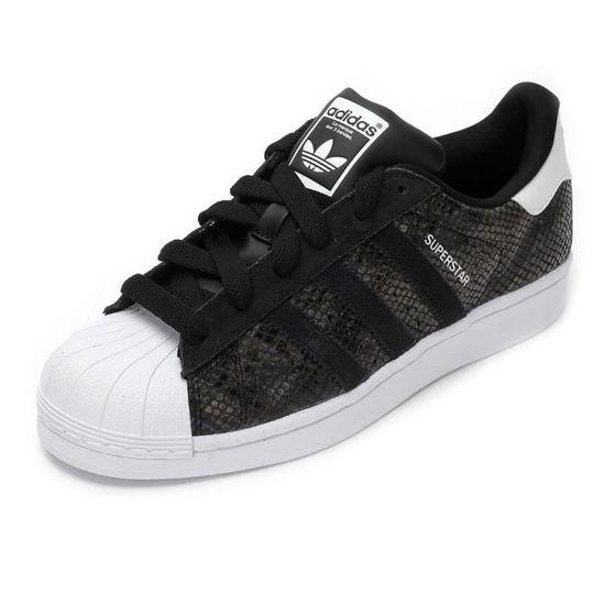 Adidas superstar b35797 noir basket noir serpent Noir