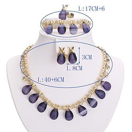 Femmes Saint-Valentin spéciale en cristal et Zircon clouté 18k or jaune en alliage bijoux F0Y7I