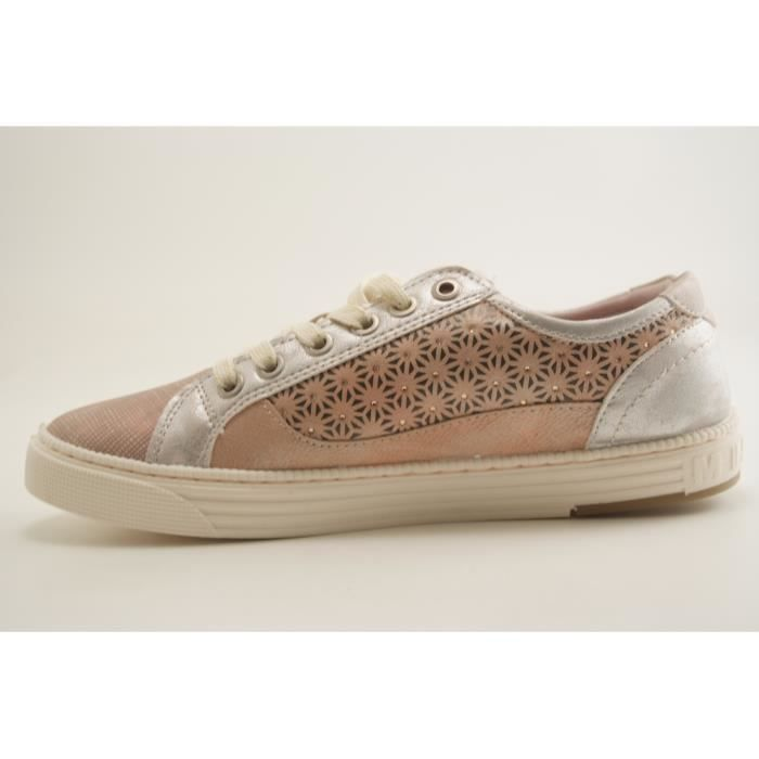 MUSTANG SHOES-1246 301-TENNIS LACET-ROSE