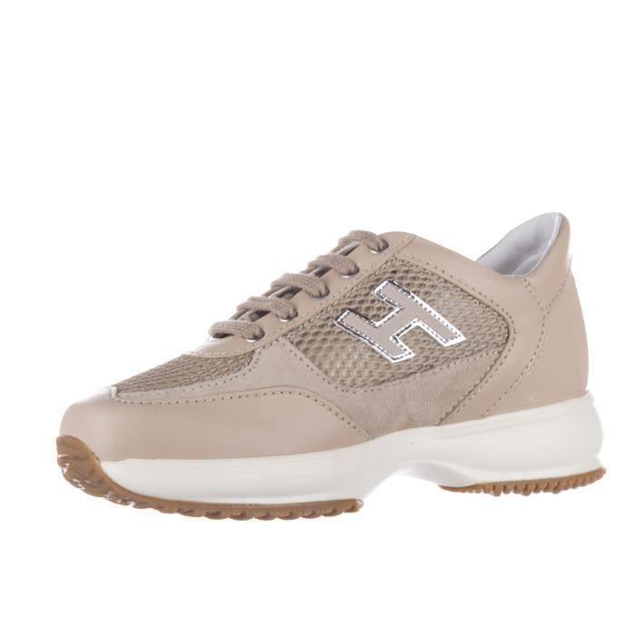Chaussures baskets sneakers filles en cuir interactive h flock Hogan 6rUHyN