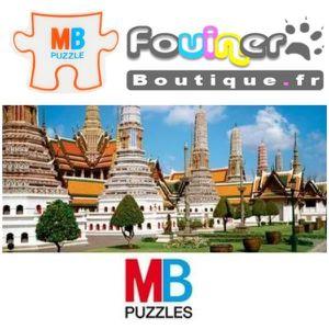 PUZZLE Jouet Puzzle MB Panoramique 1000 pcs Temple de Wat