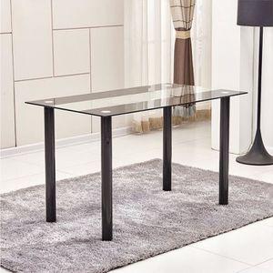 TABLE À MANGER SEULE Table à manger en Verre & métal Noirtable de repa