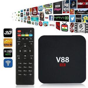 PACK ACCESSOIRES 4K Android 5.1 Smart TV Box V88 1G / 8G 4 USB 4K 2