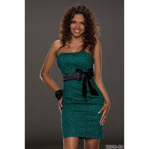 be507a8c21 Sexy robe bustier bandeau vert noire - Achat / Vente sexy robe ...