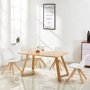 TABLE DE CUISINE  Table à manger rectangulaire design en bois - Trev