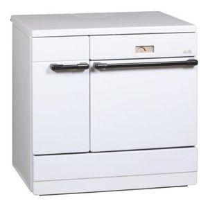 CUISINIÈRE - PIANO Deville - cuisinière à bois 12kw blanc - c08631-01