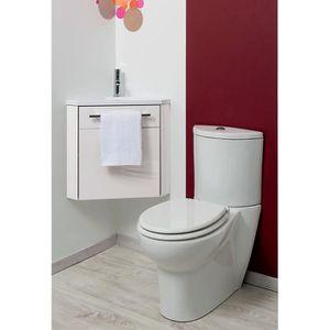 MEUBLE VASQUE - PLAN Meuble lave-mains à suspendre d'angle Ninon Blanc