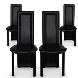 CHAISE Lot de 4 chaises Lune Noir