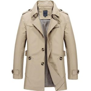 Imperméable - Trench Trench homme Coupe slim Beige ZX-NSZ3001