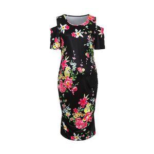 quality design 76ead dfb43 mere-femmes-robe-imprime-floral-de-body-con-epaule.jpg