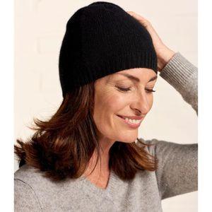 BONNET - CAGOULE WoolOvers Bonnet luxueux Femme Pur Cachemire Noir 2c9ec2c19d9