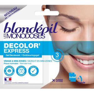 DÉCOLORATION POILS BLONDEPIL Gel décolorant Les Monodoses Decolor'Exp