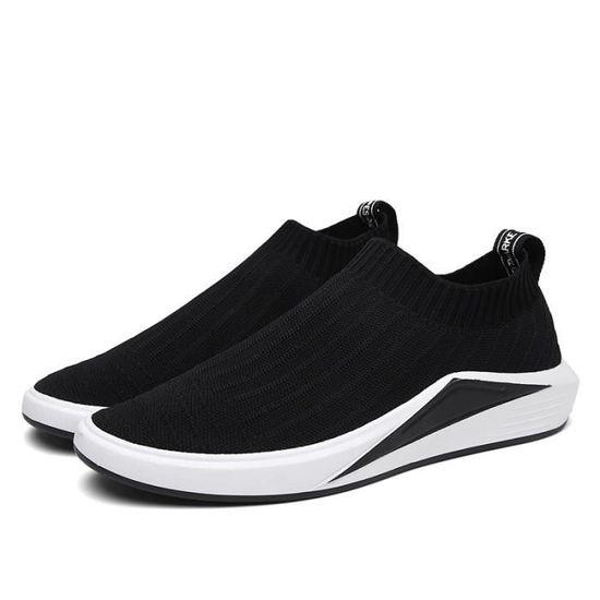 Basket Homme Chaussures Masculines Respirante Chaussure  Noir - Achat / Vente basket