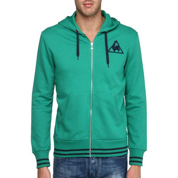 LE Sweat Veste Vert sweatshirt COQ Vente SPORTIF Achat Zippée rx1wr7gq