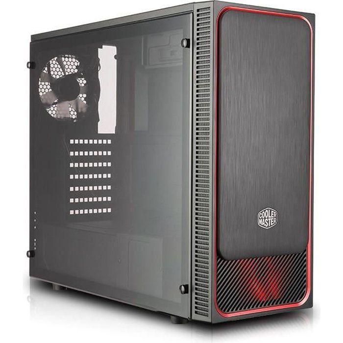 COOLER MASTER Boîtier PC MasterBox E500L windows - Rouge