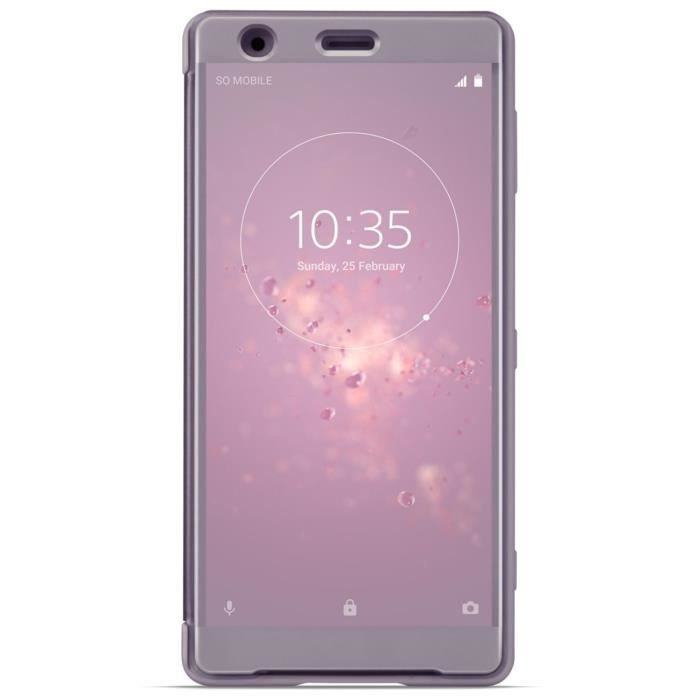 Sony Style Cover Touch pour XZ2 Rose