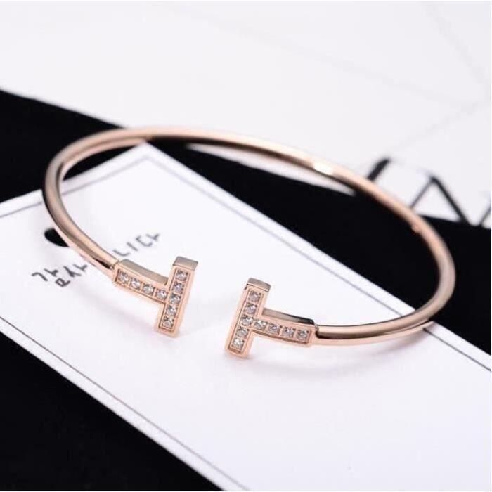 Bracelet renard elégant exquis en plaqué 18k doré Bijoux Mode Femme Bracelet
