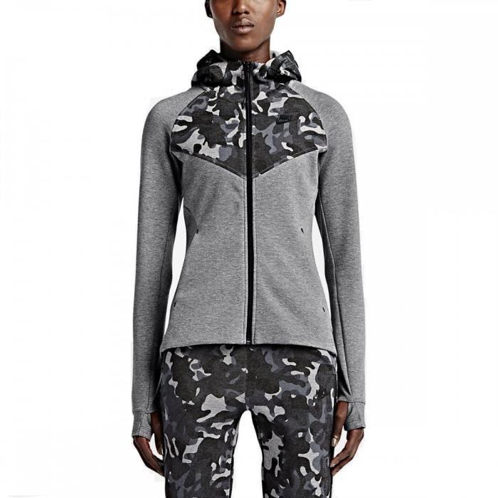 différemment 2f93f 88725 Sweat Nike Tech Fleece Full-Zip Print - 685491-091