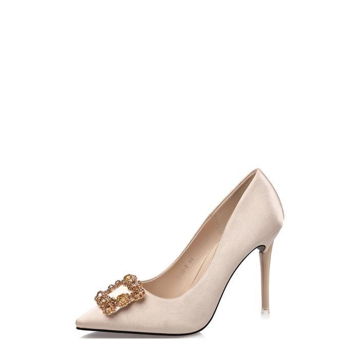 Escarpin Femmes Pompes talon haut bout pointu Low Cut Chaussures de mode élégante 9949656