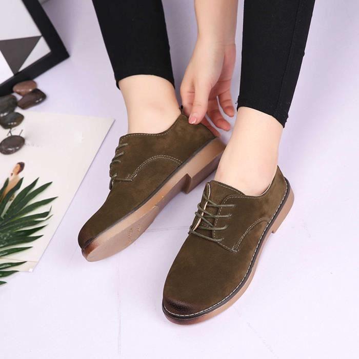 Napoulen®Femmes Flats chaussures de mode mocassins Quatre saisons populaire Vert-XYM70901904GN