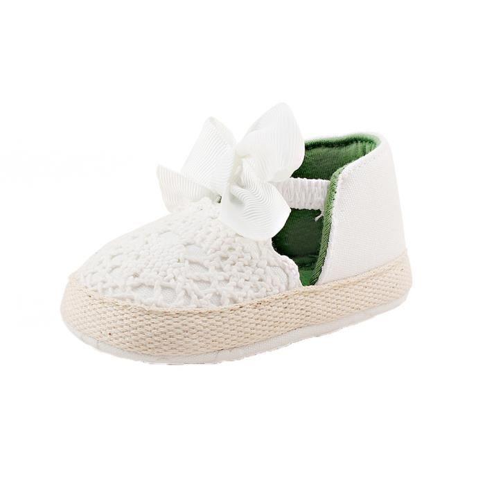 BOTTE Printemps doux semelle fille bébé premiers Walkers mode chaussures papillon-noeud chaussures@BlancHM dDv6UlX