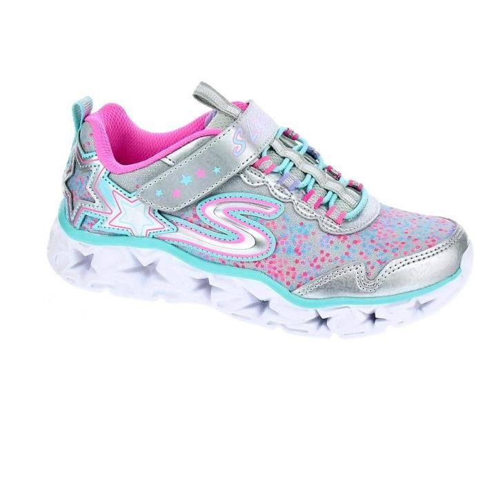 78ee306ea792 Baskets - Skechers Galaxy Lights Fille Argent 32 Argent - Achat ...