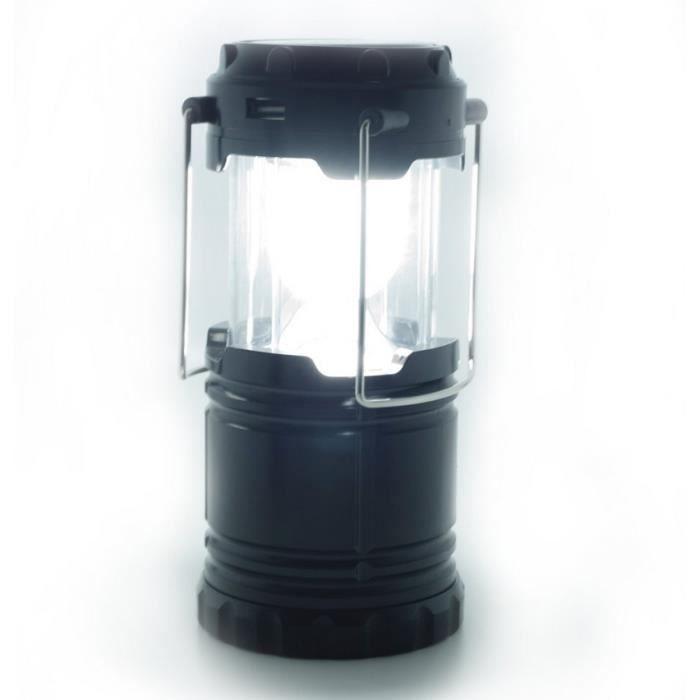 Lampe De Camping Solaire A Led Et Rechargeable Pour Portable
