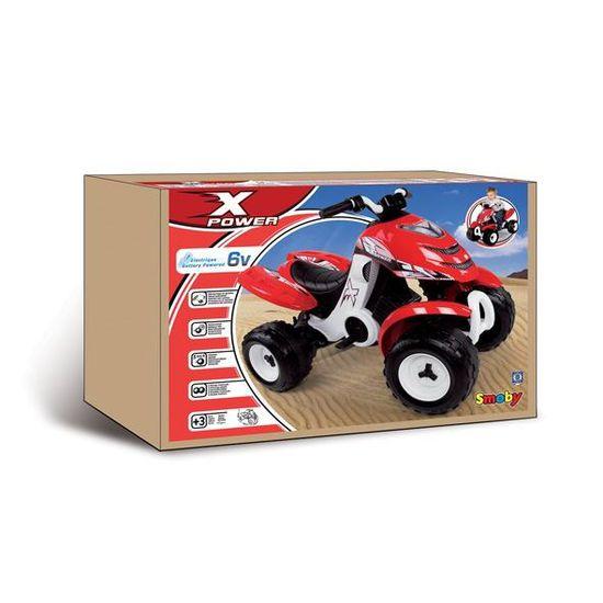 ed85b74eb4a6 SMOBY Quad Electrique Enfant X Power Rouge - Achat   Vente quad - kart -  buggy - Cdiscount