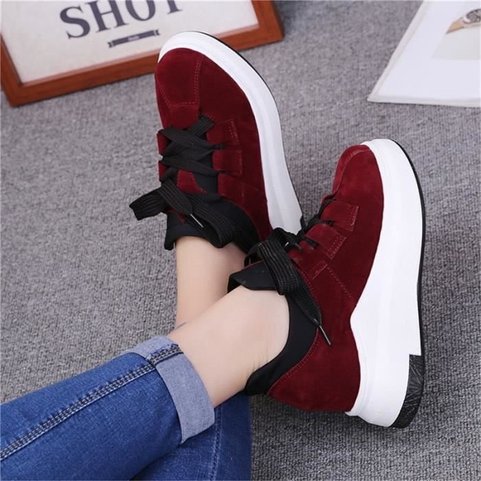 Chaussures Mode de plateforme plate chaussures en cuir pour femmes plates Plateforme Mocassins Chaussures