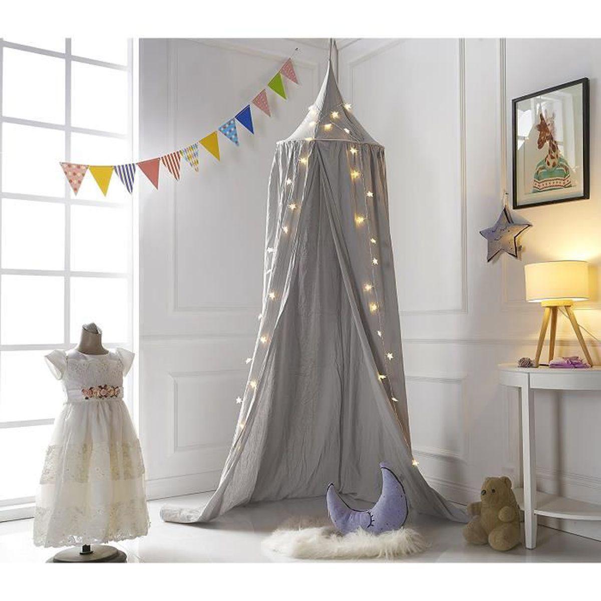 truedays baldaquin ciels de lit moustiquaire rideau de lit tente de jeu pour b b enfant. Black Bedroom Furniture Sets. Home Design Ideas