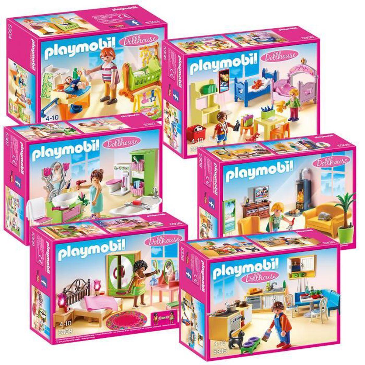 assemblage construction playmobil maison de poupe det meubles 5304 5306